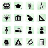 Education icons set Stock Photo