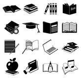 Education icons set Royalty Free Stock Photos