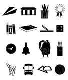 Education icons set Royalty Free Stock Photo