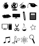 Education icons set Stock Photos