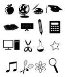 Education icons set Stock Photos