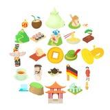 Education icons set, cartoon style. Education icons set. Cartoon set of 25 education vector icons for web isolated on white background Stock Photo