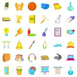 Education icons set, cartoon style. Education icons set. Cartoon style of 36 education vector icons for web isolated on white background Royalty Free Stock Photos