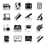 Education icons set stock illustration