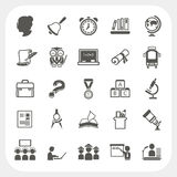 Education icons set Royalty Free Stock Image