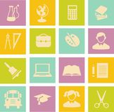 Education icons Stock Photo