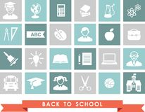 Education icons. Set of education icons in flat colorful style Royalty Free Stock Photos