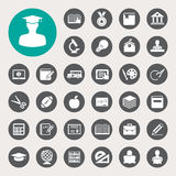 Education icons set. Illustration Royalty Free Stock Images