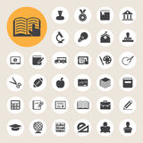 Education icons set. Illustration Royalty Free Stock Photos