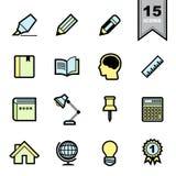 Education icons set Stock Photography