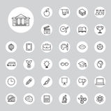 Education icons set Royalty Free Stock Photo