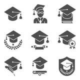 Education Icons Set Stock Images