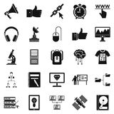 Education icons set, simple style. Education icons set. Simple set of 25 education vector icons for web isolated on white background Royalty Free Stock Photos