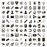 100 education icons set, simple style. 100 education icons set in simple style on a white background Stock Photography