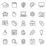 Education Icons. Set of 25 thin line education icons Stock Photo