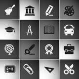 Education Icons Set Stock Photo