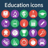 Education icons set. Vector illustration Stock Image
