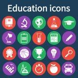 Education icons set Stock Image