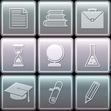 Education icons set - vector illustration. This is file of EPS10 format Royalty Free Stock Photos
