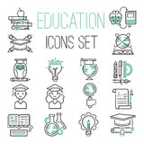 Education icons set vector. Stock Photography