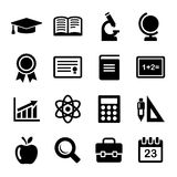 Education Icons Set. Vector Royalty Free Stock Image