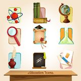 Education icons set Royalty Free Stock Photography