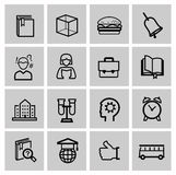 Education icons, signs, vector illustration set Stock Images