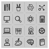 Education icons, signs, vector illustration set Stock Photos