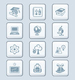 Education Icons | TECH Series Royalty Free Stock Photography