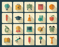 Education icons Stock Photos