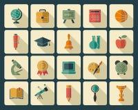 Education icons Stock Photos