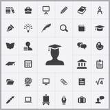 Education icons universal set vector illustration