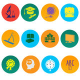 Education icons. A vector illustration of education icon sets Stock Photo