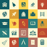 Education icons. Vector web and mobile education school icons-25 items Royalty Free Stock Photo