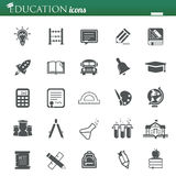 Education icons. Vector web and mobile education school icons-25 items Royalty Free Stock Photography