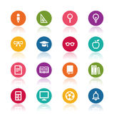Education icons Royalty Free Stock Images