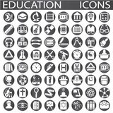 Education icons. On a white background in circles stock illustration