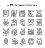 Education Icons on White Background Royalty Free Stock Photo