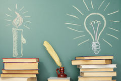Education. Idea about history and development of civilization and science Stock Photo