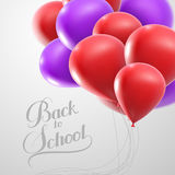 Education  illustration of Back To School retro label with flyin Royalty Free Stock Photo