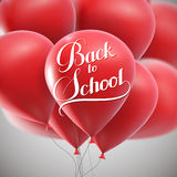 Education  illustration of Back To School retro label with flying Royalty Free Stock Photos
