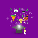 Education infographic Royalty Free Stock Photo
