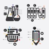 Education infographic Royalty Free Stock Images