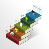 Education infographic with colorful books element Royalty Free Stock Photos