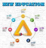Education infographic design stock illustration