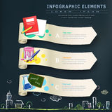 Education infographic design elements with banners Royalty Free Stock Photo