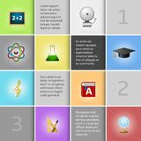Education infographic elements Royalty Free Stock Image