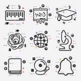 Education infographic Royalty Free Stock Photography