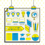 Education infographic template. Stock Photos