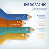 Education infographic template design Royalty Free Stock Image